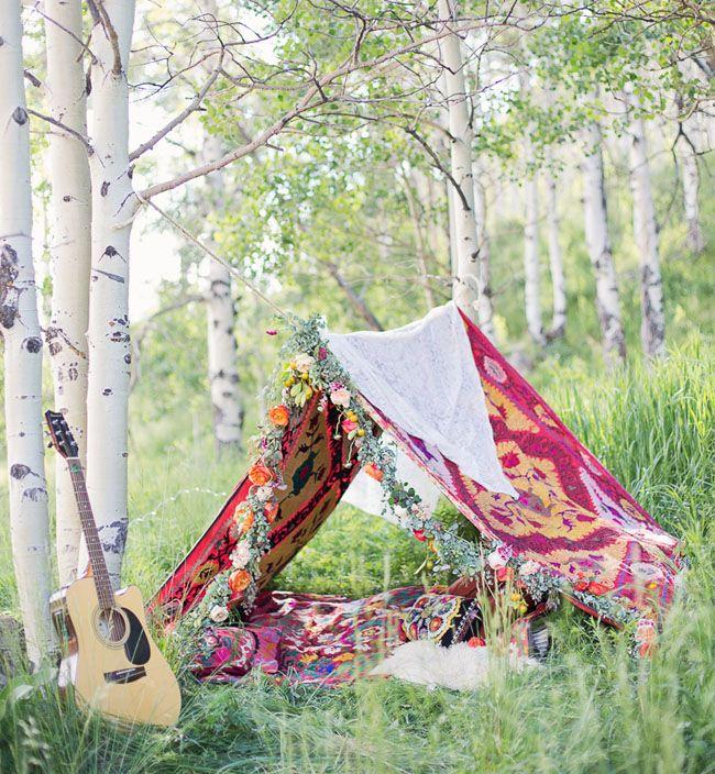 5 Bohemian Home Decor Ideas Rustic Folk Weddings: Boho Camping Engagement Session: Nicole + Dan