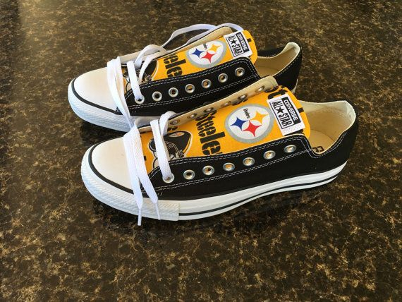 e3d81f8eaa9 Pittsburgh Steelers 1 Football Print Converse by GoodsByGarment ...