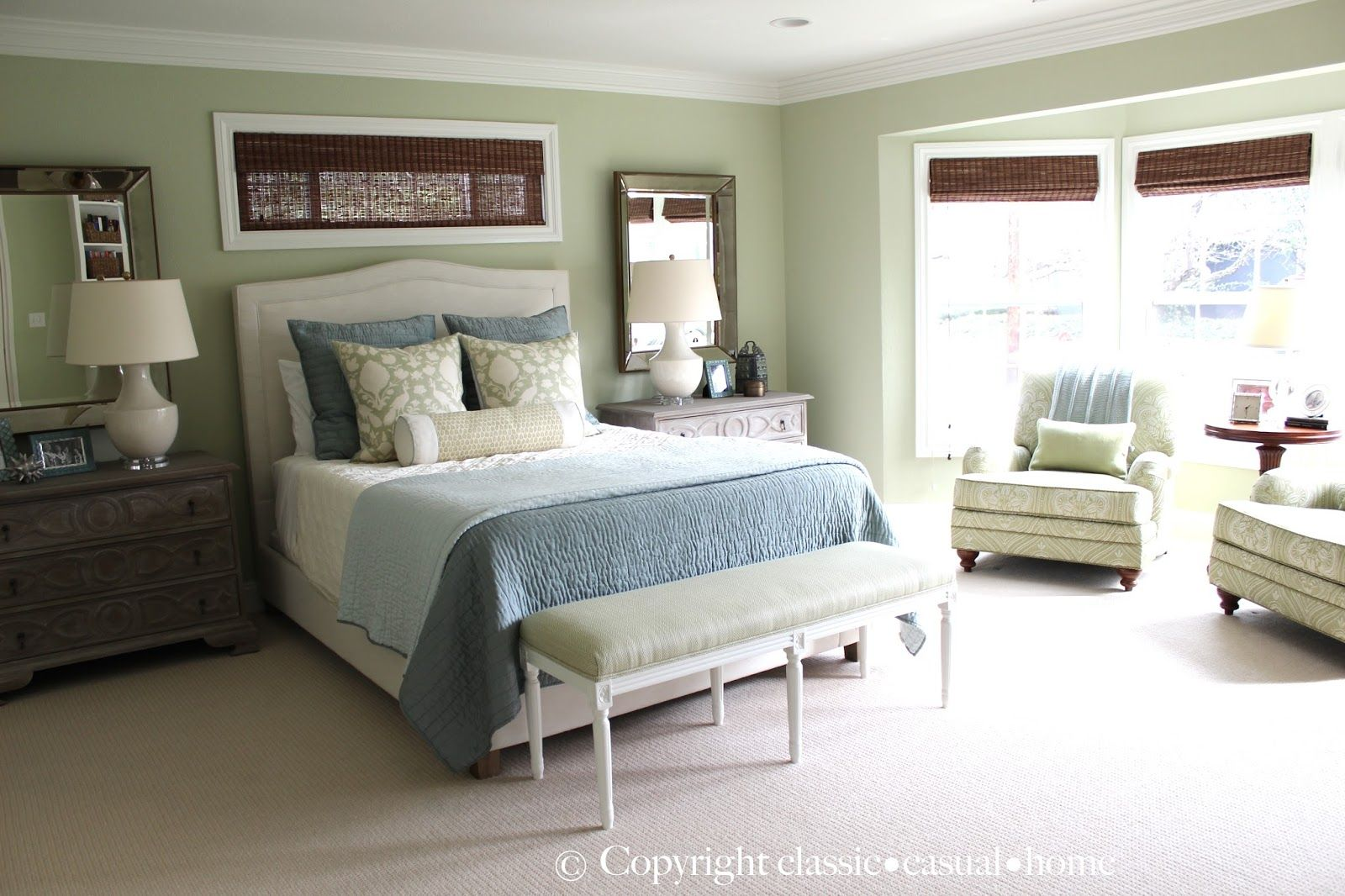 Best Soft Green And Aqua Blue Master Bedroom Before And After 640 x 480