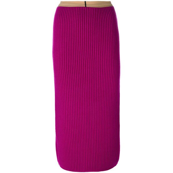 ribbed bodycon mid-length skirt - Pink & Purple CALVIN KLEIN 205W39NYC Sale Clearance Clearance Sast Many Colors OsZAubdrC