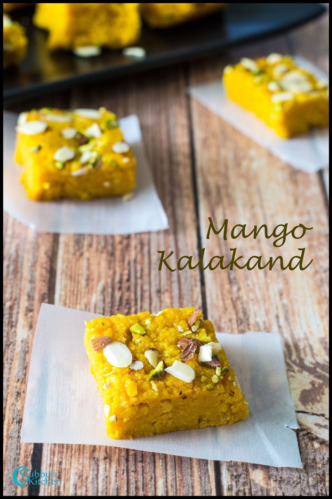 Mango Kalakand Recipe Kalakand Recipe Indian Desserts Sweet Recipes