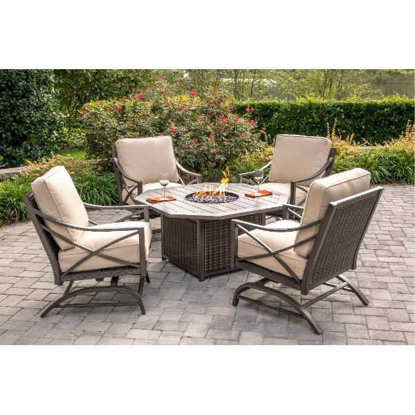 davenport collection 5 piece outdoor patio fire pit set patio
