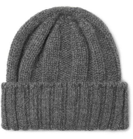3b099bd904d Beams Plus - Ribbed Cashmere Beanie