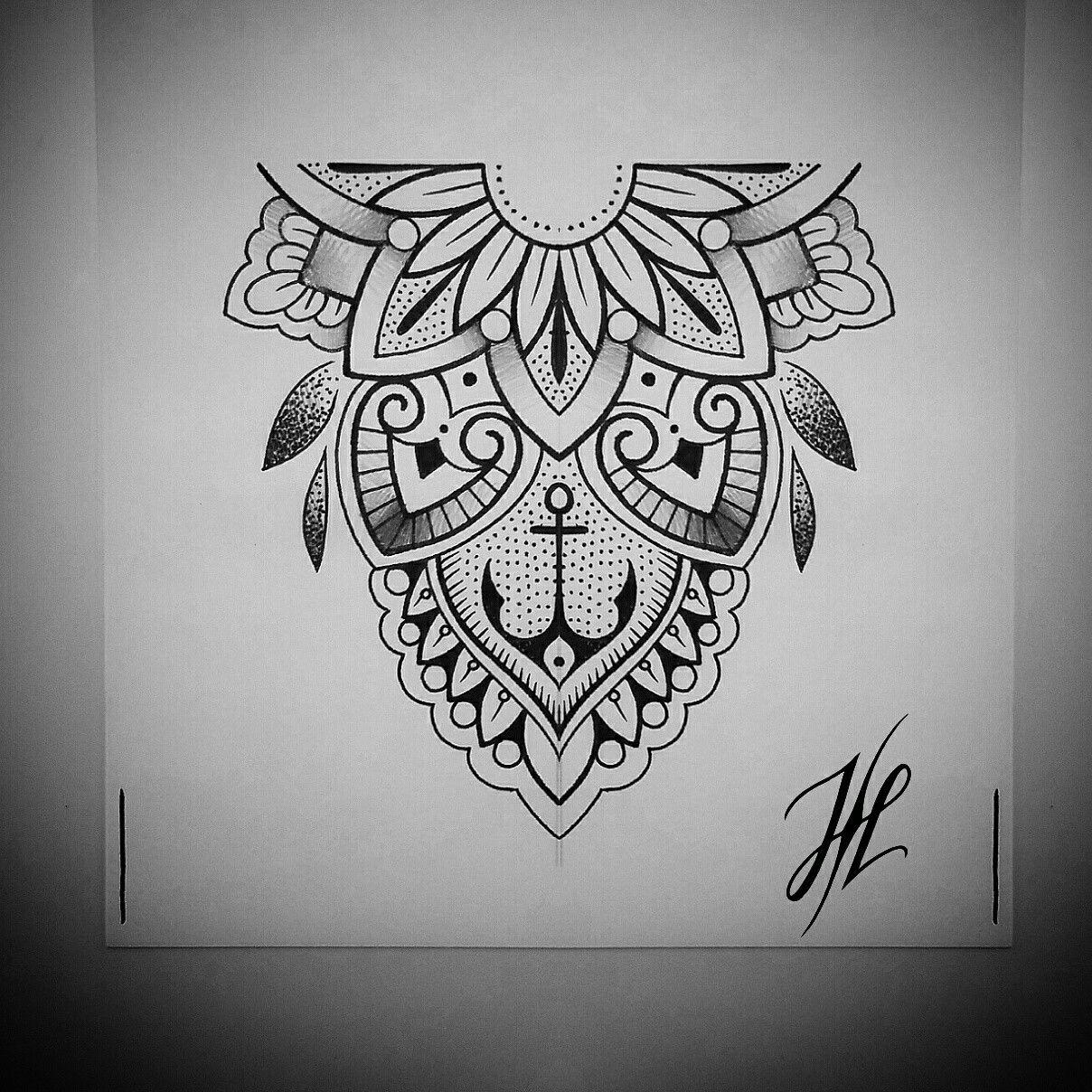 Mandala Tattoo Design On Pinterest: Ornaments Mandala Design By Marjorianne