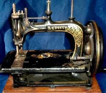 James Galloway Weir Zephyr sewing machine  circa 1875-85