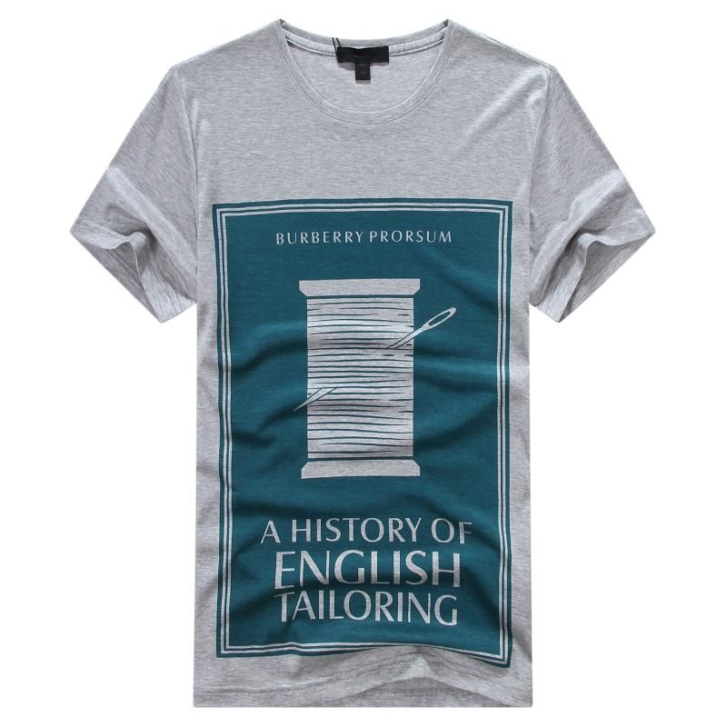 BURBERRY TEES, 1 : 1 QUALITY mercerized cotton, COPY FROM ORIGINAL, MENS SHORT SLEEVE T-SHIRTS