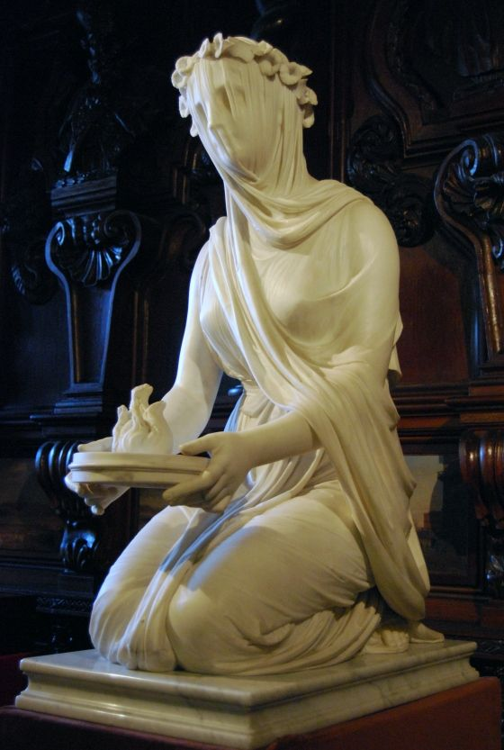 THE VEILED LADY A marble bust of the antique by