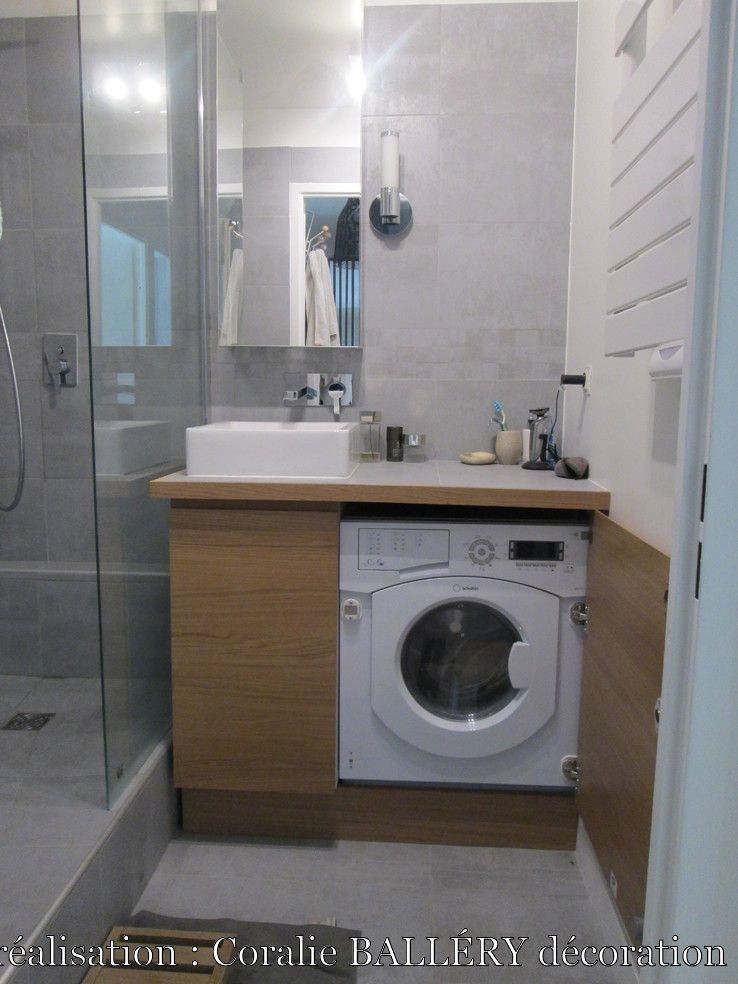 R Novation D 39 Une Petite Salle De Bains Small Living Pinterest Laundry Tiny Houses And Studio