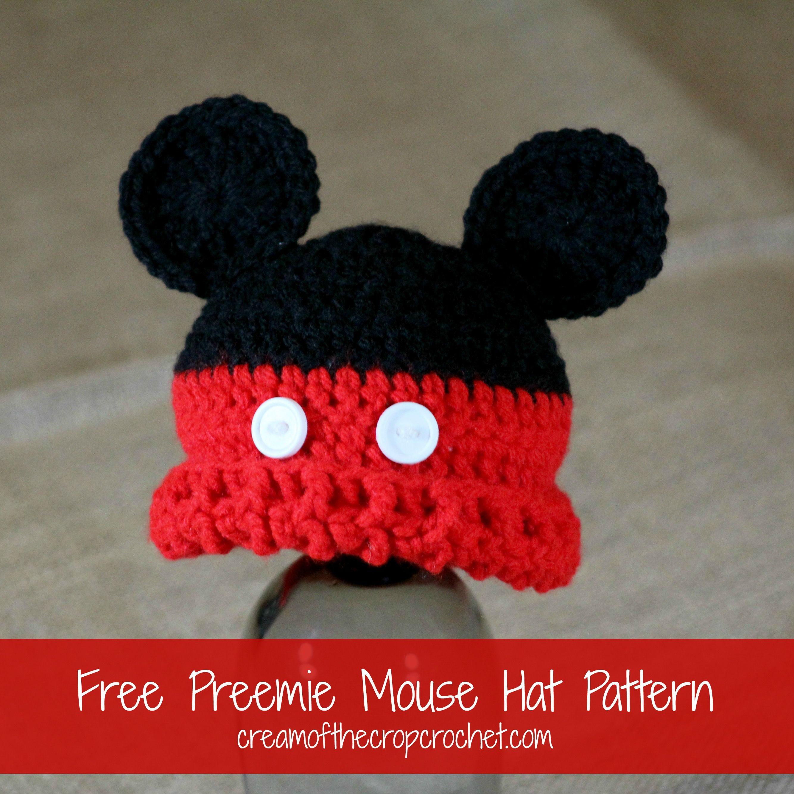 Preemie Mouse Hat Pattern   crochet   Pinterest