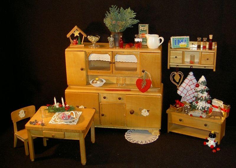 Puppenküche Küchenmöbel Büffet Stuhl Tisch Bank * Von Seide,Baer Und Mehr  Auf DaWanda.