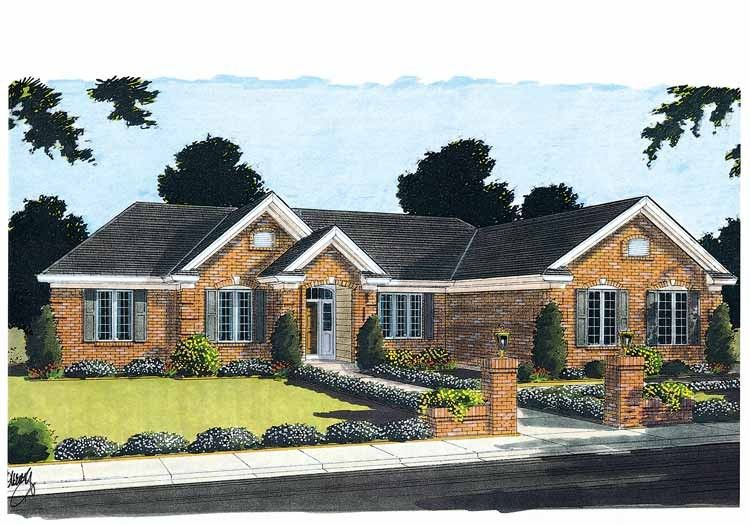 Elegant Sunroom House Plan