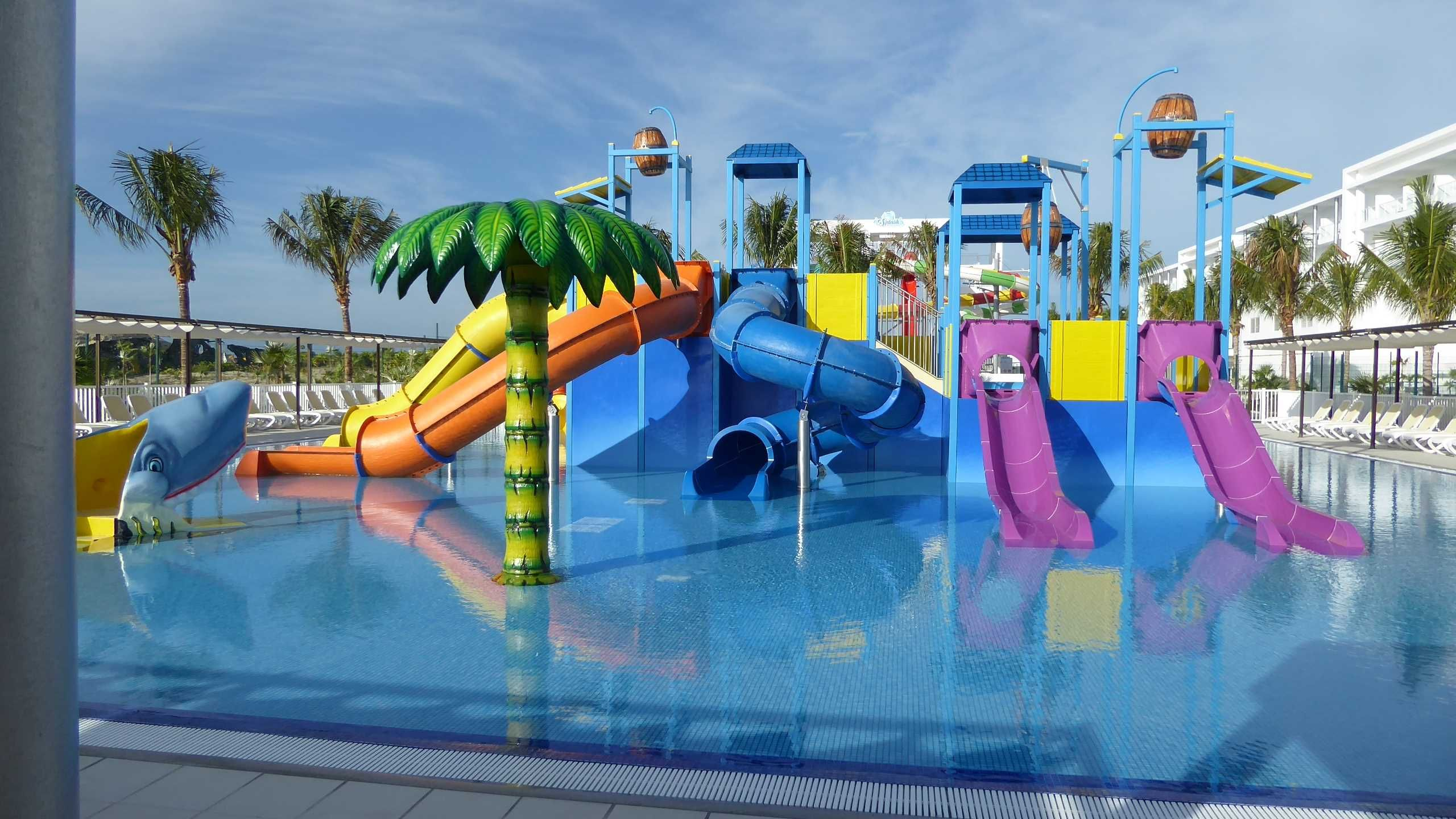 Children S Slide Area Within The Waterpark At Riu Dunamar