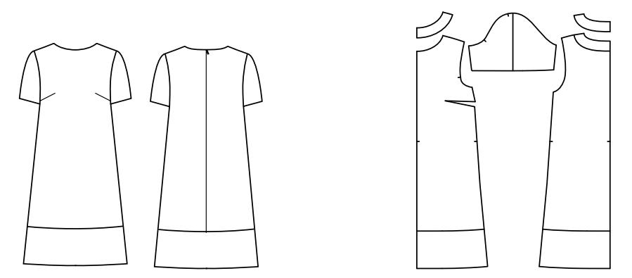 A kostenloses linie kleid schnittmuster Fabrik der