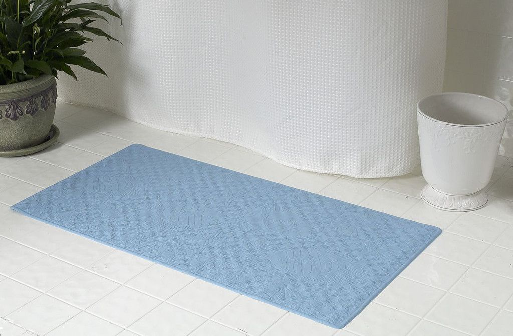 Textured Rubber Bath Tub Or Floor Mat Slate Blue With Images