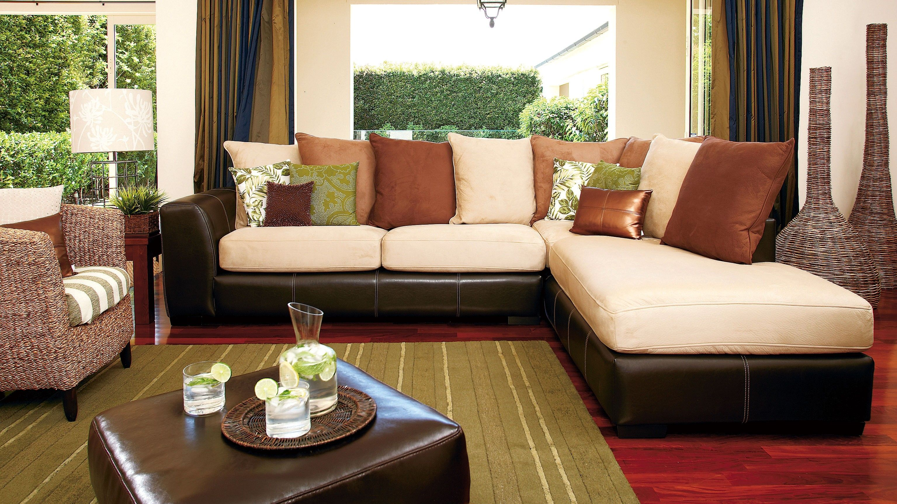 York Corner Lounge Suite with Chaise Oatmeal Maybe better in