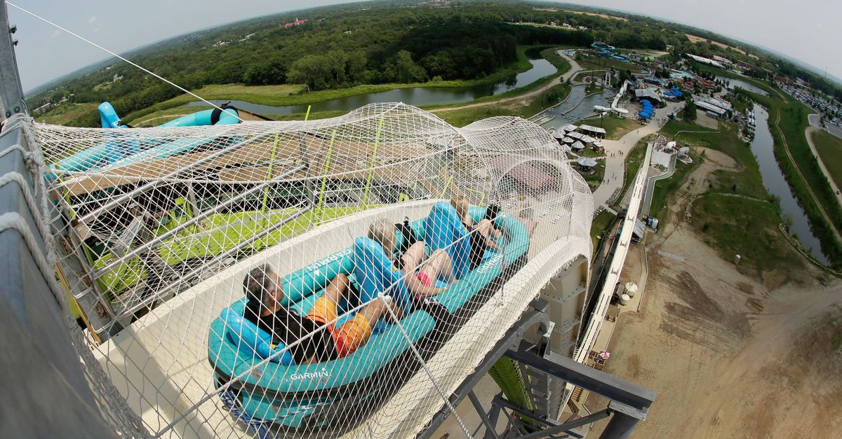 Long Anticipated World S Tallest Water Slide Is Now Open For Business Water Slides