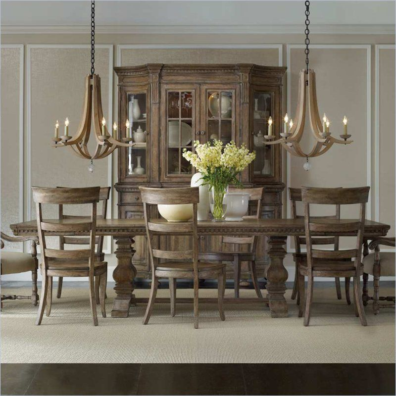 Hooker Furniture Sorella Rectangular Dining Table with Leaves in