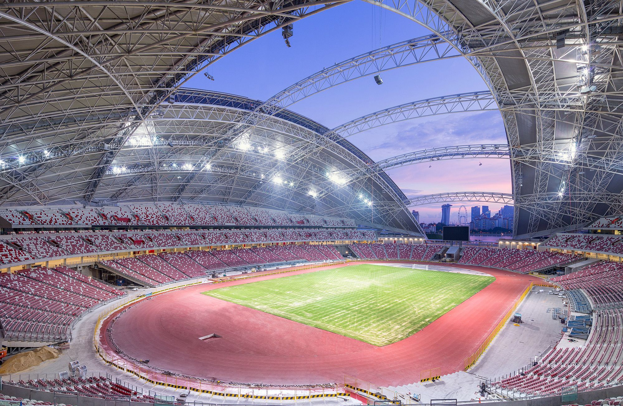 Gallery Of Singapore Sportshub Dparchitects 1 Dp Architects Singapore Dome Structure