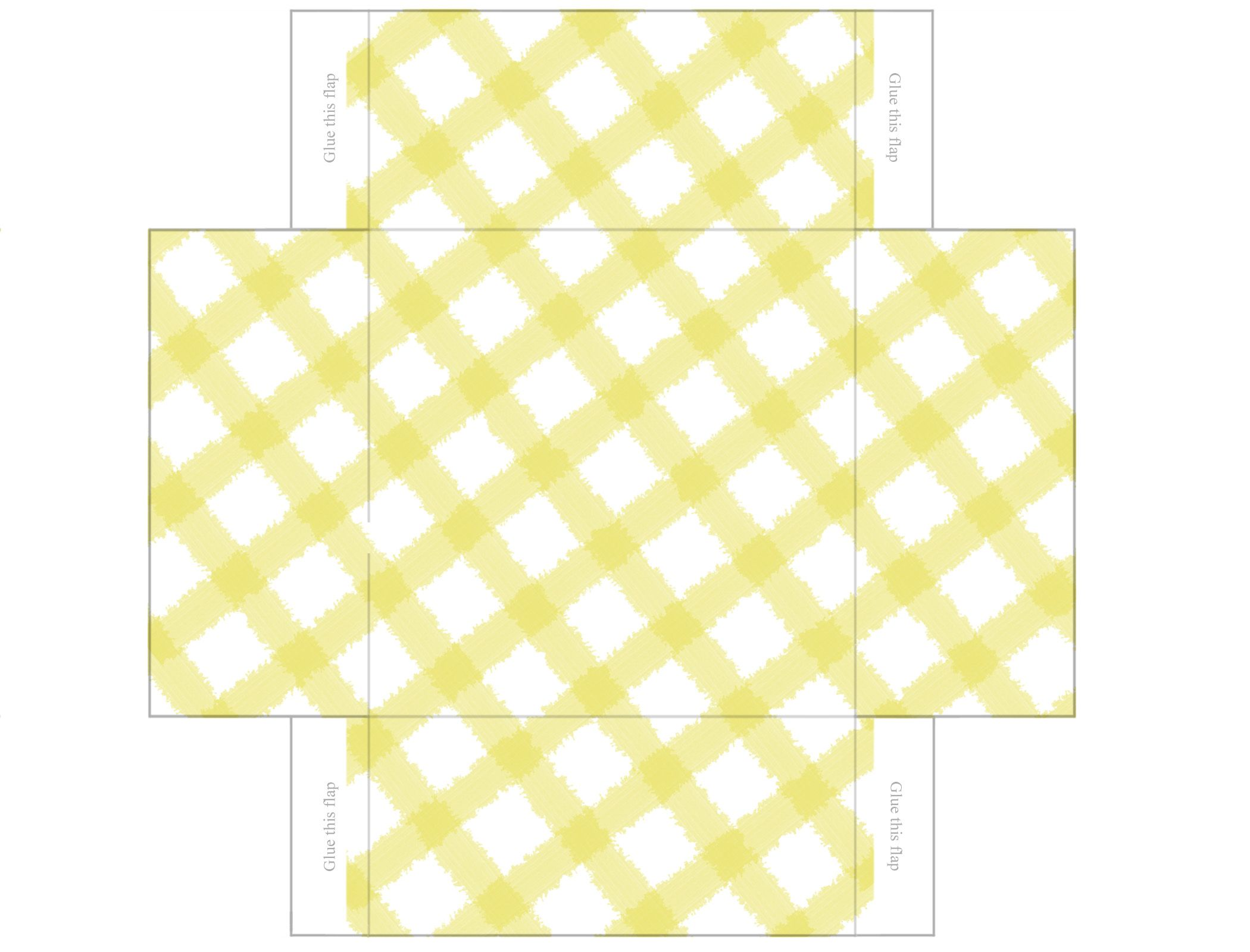 Printable Box Templates Free | Free Printable Templates: Gingham Mini Gift  Boxes | Pecuniarities  Gift Box Template Free