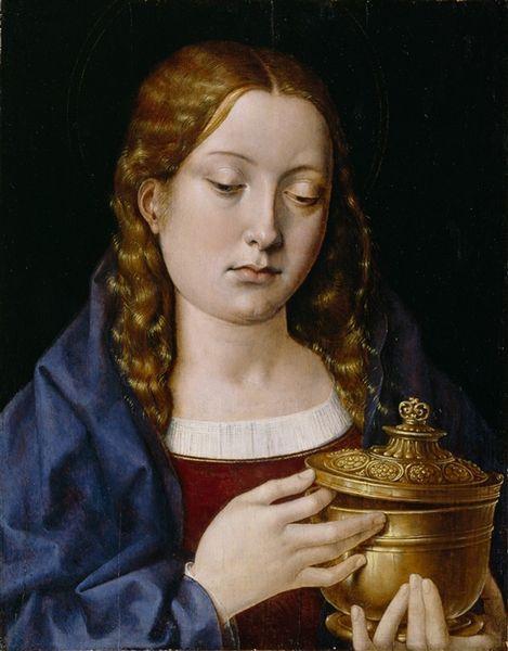 Michael Sittow, María Magdalena, probablemente usando a Catalina como modelo