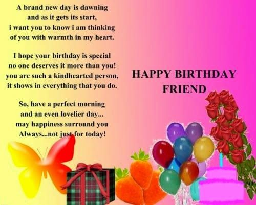Happy Birthday Wishes Quotes For Best Friend – Birthday Greetings to a Friend Quote