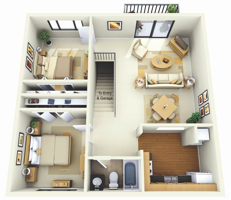 Two Bed House Plans Best Of Thoughtskoto 2 Bedroom House Design 2 Storey House Design Small Apartment Floor Plans