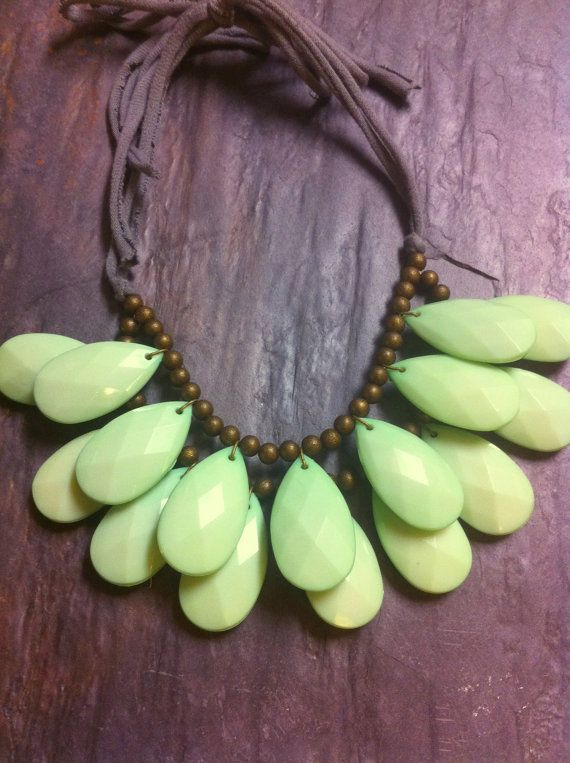 Mint Seafoam Green Double Strand Briolette by EclecticOrnaments, $45.00