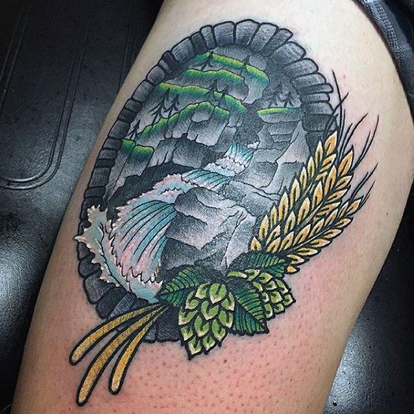 4a7d4f3a7 100 Nature Tattoos For Men - Deep Great Outdoor Designs | Tattoos ...