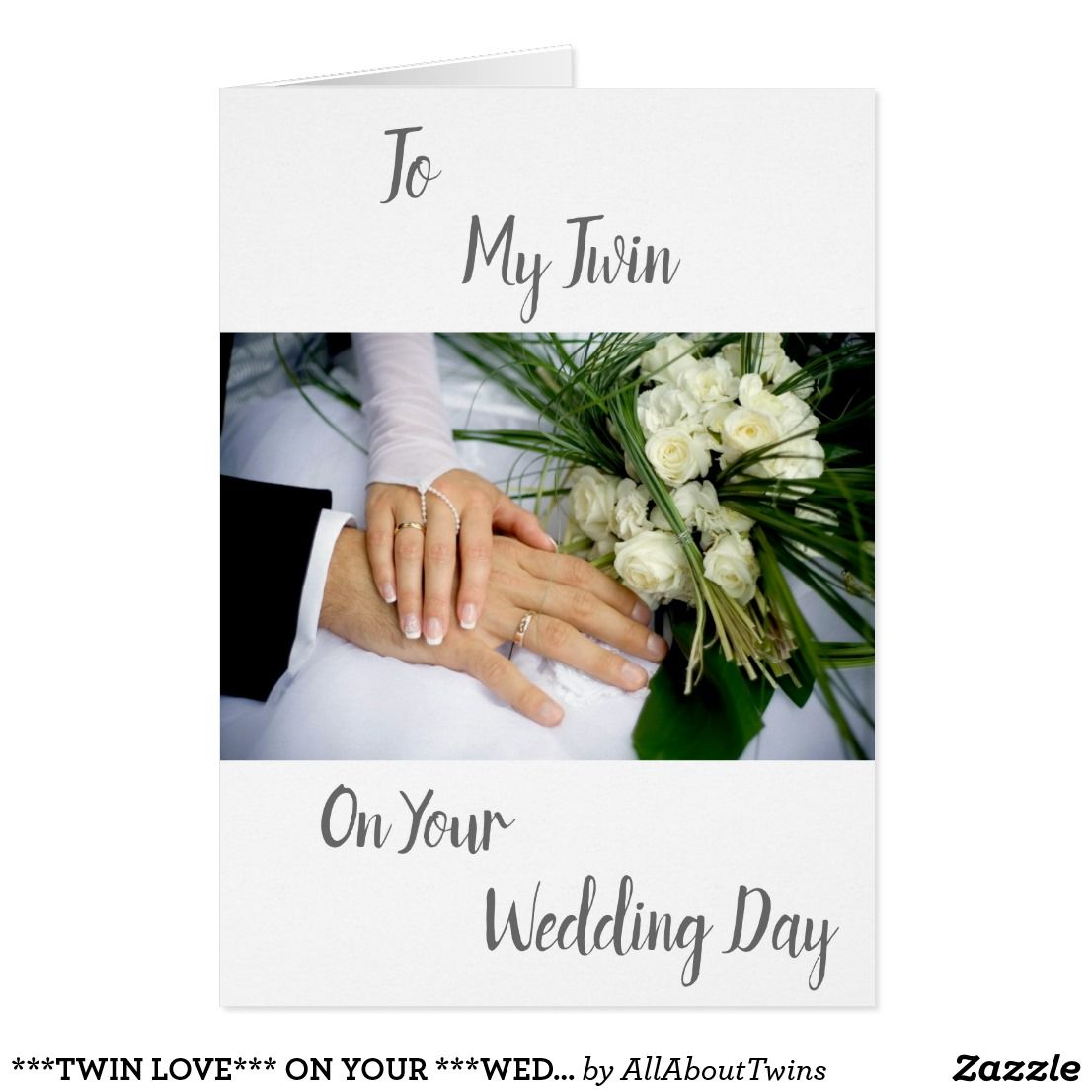 Twin Love On Your Wedding Day Card Twins