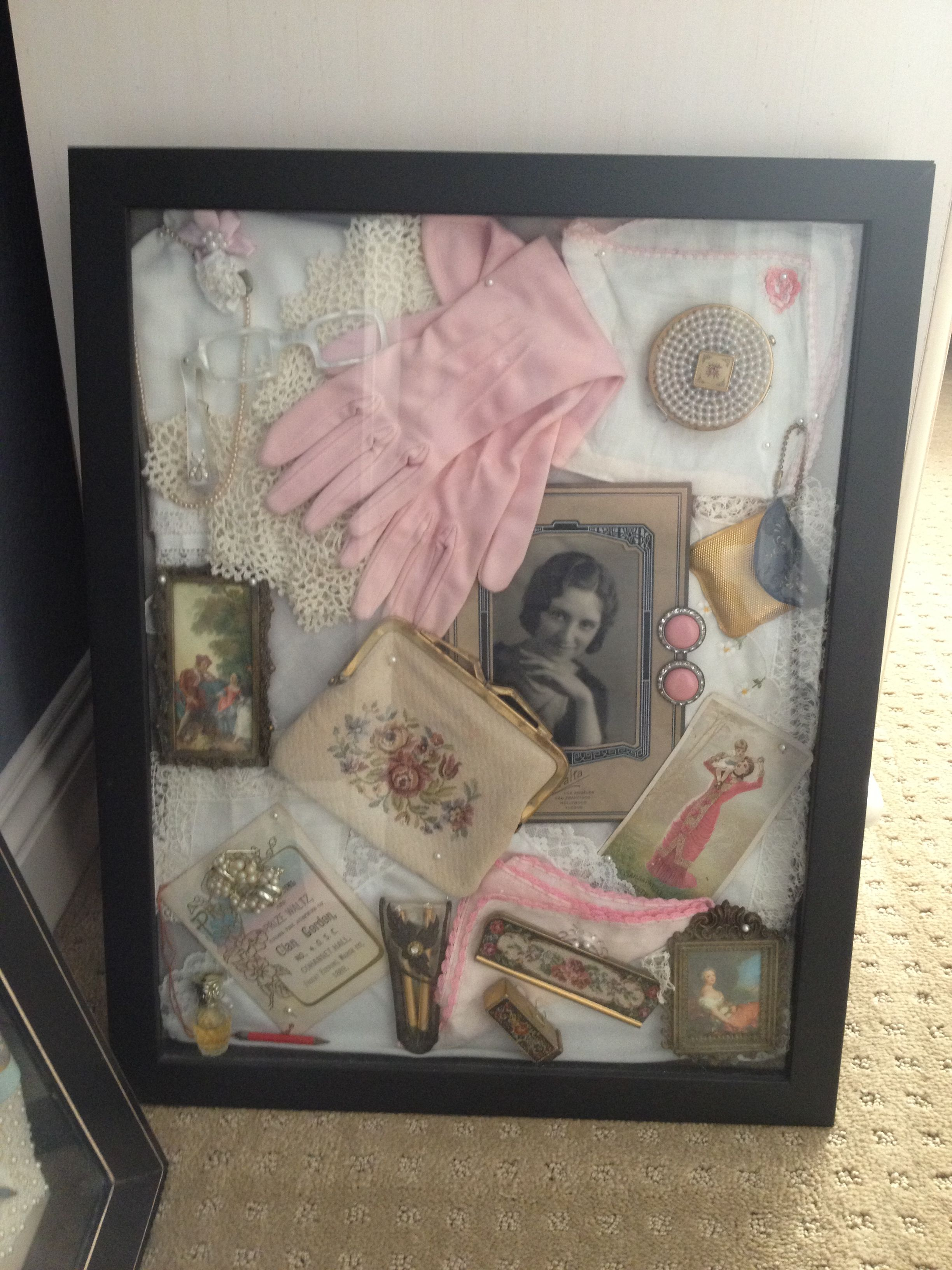 vintage shadow box 2 vintage collections pinterest. Black Bedroom Furniture Sets. Home Design Ideas
