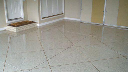 Decorative Flake Tile Garage Flooring In Covington Kentucky