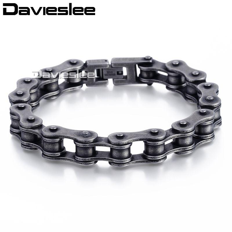 Punk Stainless Steel Bracelet Men Biker Bicycle Motorcycle Chain BraceletsB ce