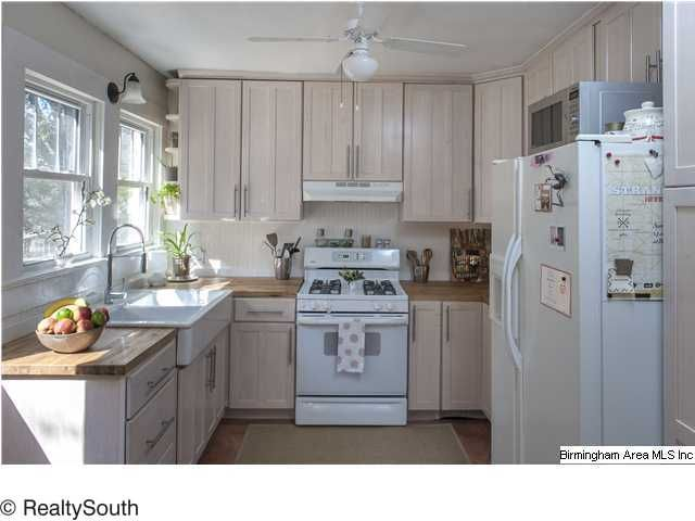 Like The Whitewash Cabinets And Even The Butcher Block Counter Top