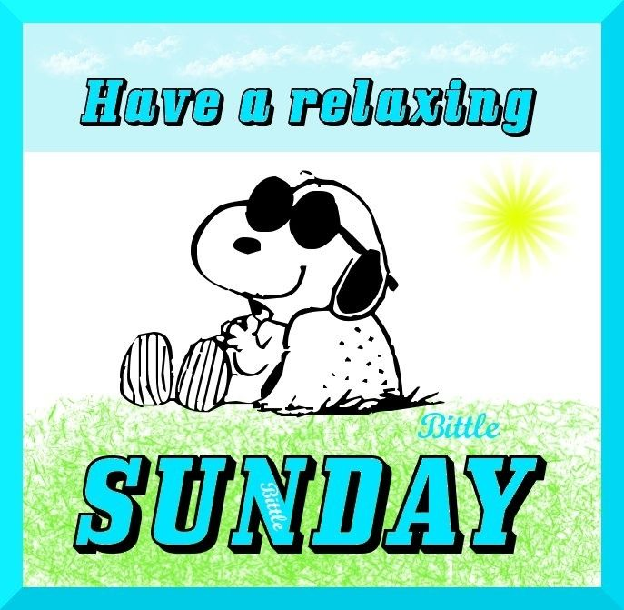Have a relaxing Sunday quotes quote snoopy days of the week sunday ...
