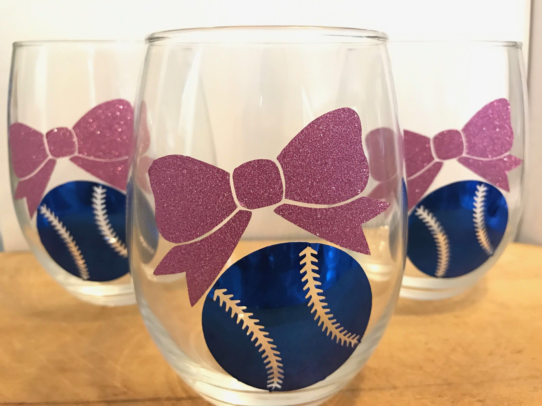 Baseballs or Bows Gender Reveal Glasses by DecorDarlings on Etsy
