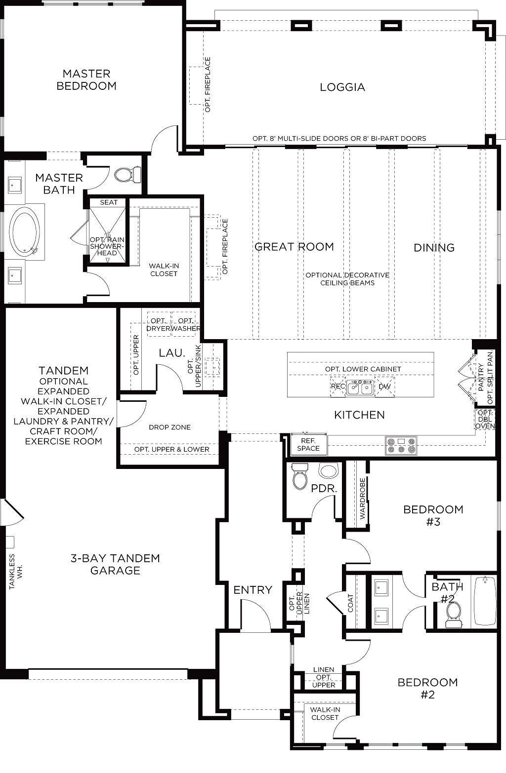 Lake Ridge Plan 1 Floorplan