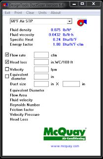 تحميل برنامج دكت سايزر Duct Sizer لحساب ابعاد الدكت Duct