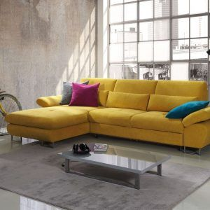 Bon Mustard Yellow Sectional Sofa