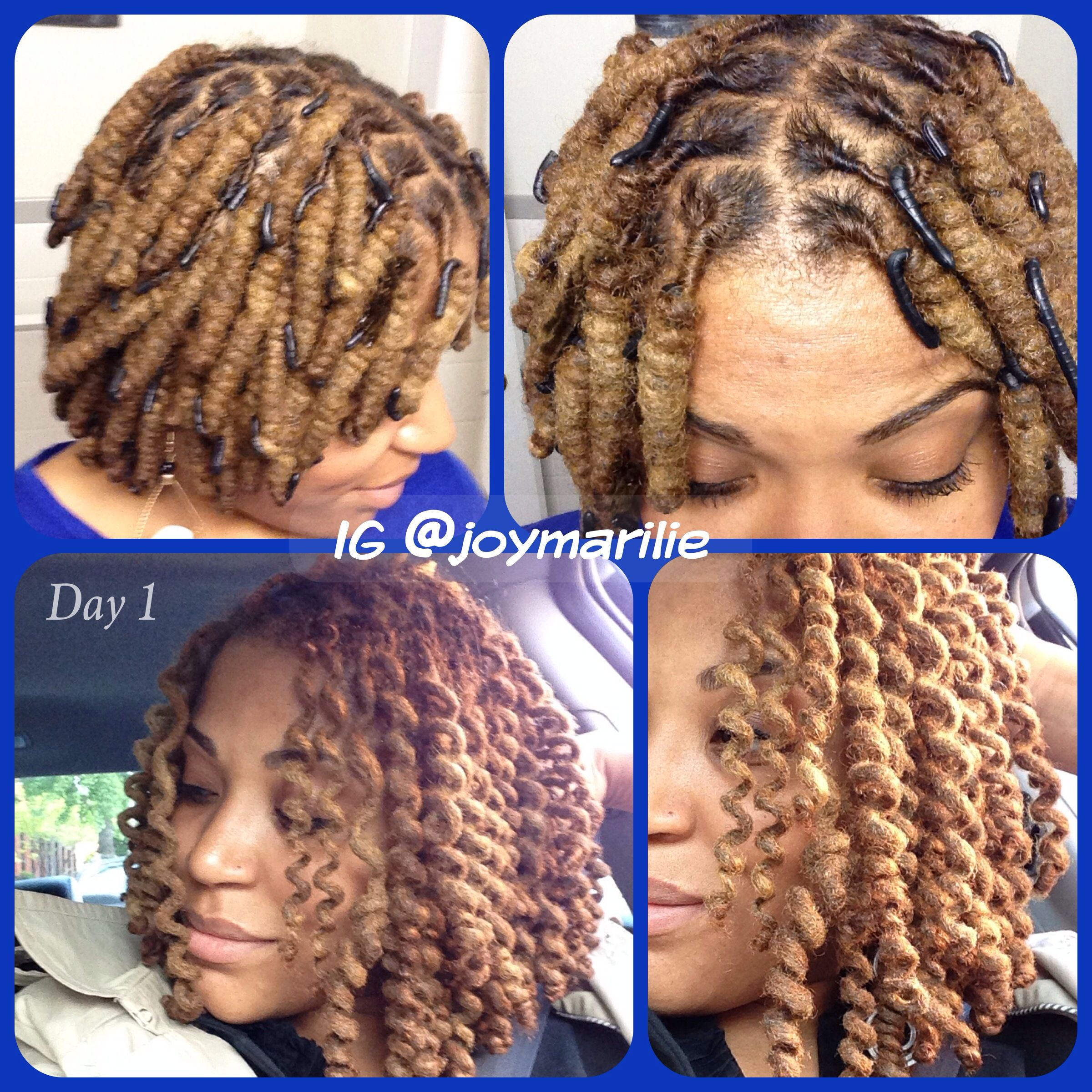 Wrap a loc curls Day one Perfect loc spirals