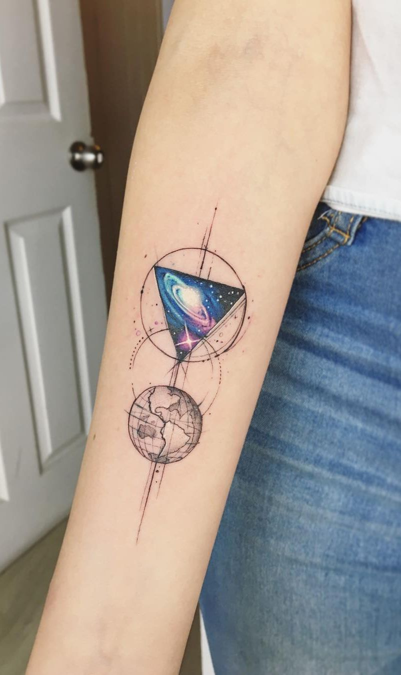 Geometric Galaxy Tattoo : geometric, galaxy, tattoo, Jaw-dropping, Galaxy, Tattoo, Ideas, Artist, Adrian, Bascur, @adrianbascur, 💖💖💖💖💖💖, 602004675172662552, Abstract, Tattoo,, Planet, Tattoos,