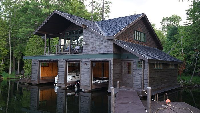 tour a historic waterfront lodge on lake placid boat house