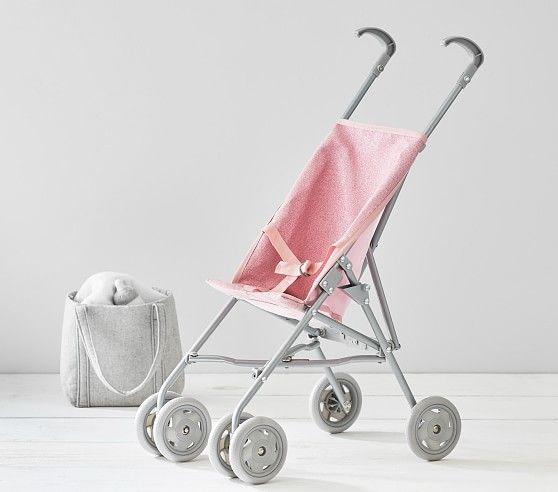 Pink Glitter Umbrella Doll Stroller Baby Dolls For Kids