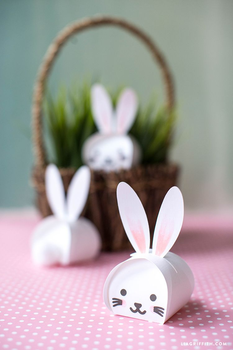 Printable Easter Bunny Treat Boxes Pinterest Easter