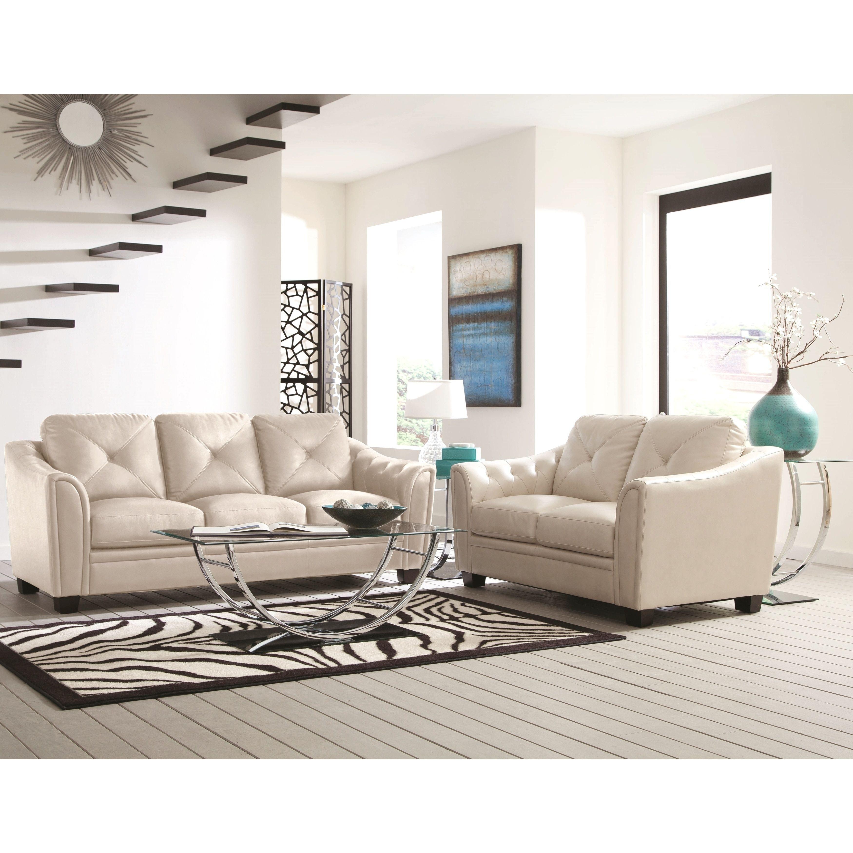 lacasta mid century modern tufted design cream ivory living room
