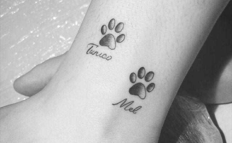 Inspire-se com lindas tatuagens de pata de cachorro, dos mais variados estilos, para escolher a sua com certeza e demonstrar todo seu amor por seu pet. #beautytatoos