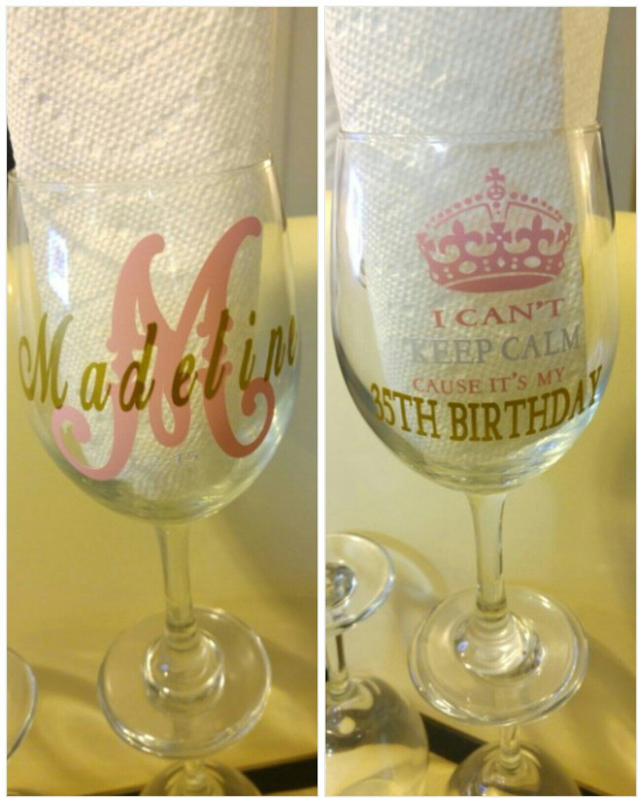 Wine glass craft Pin now click later Birthday t 30th birthday