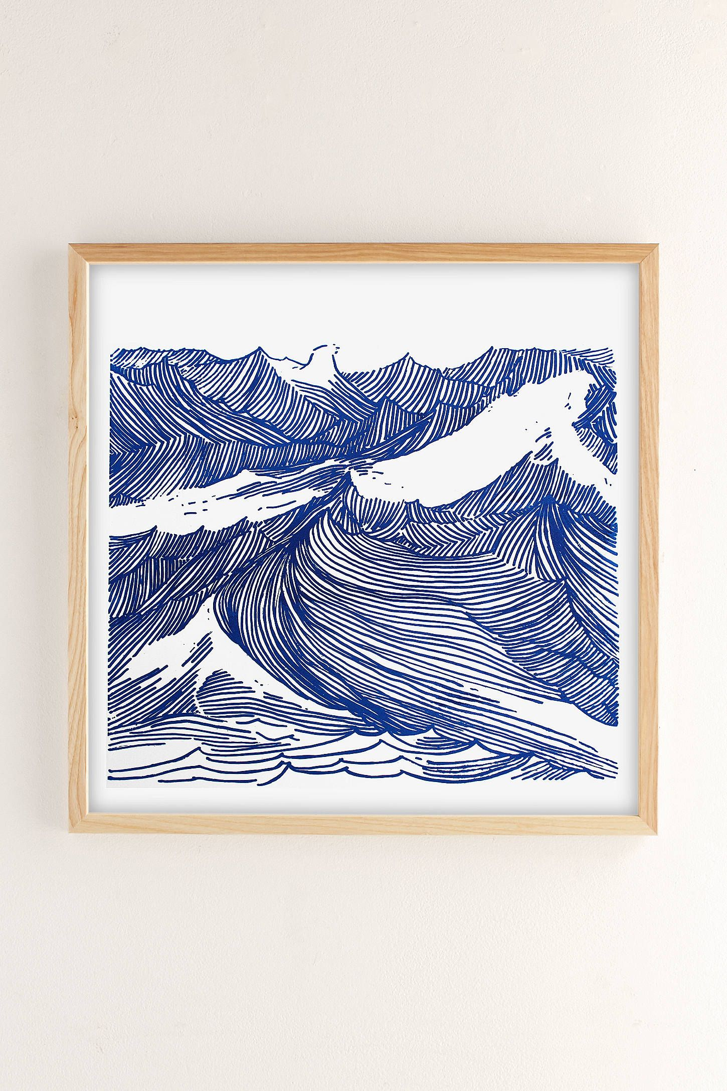 Kym Fulmer Crashing Waves Art Print art Pinterest