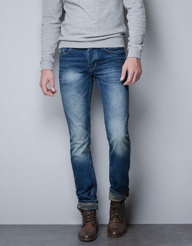 Jeans With Camouflage Hems Jeans Man Zara Italy Denim