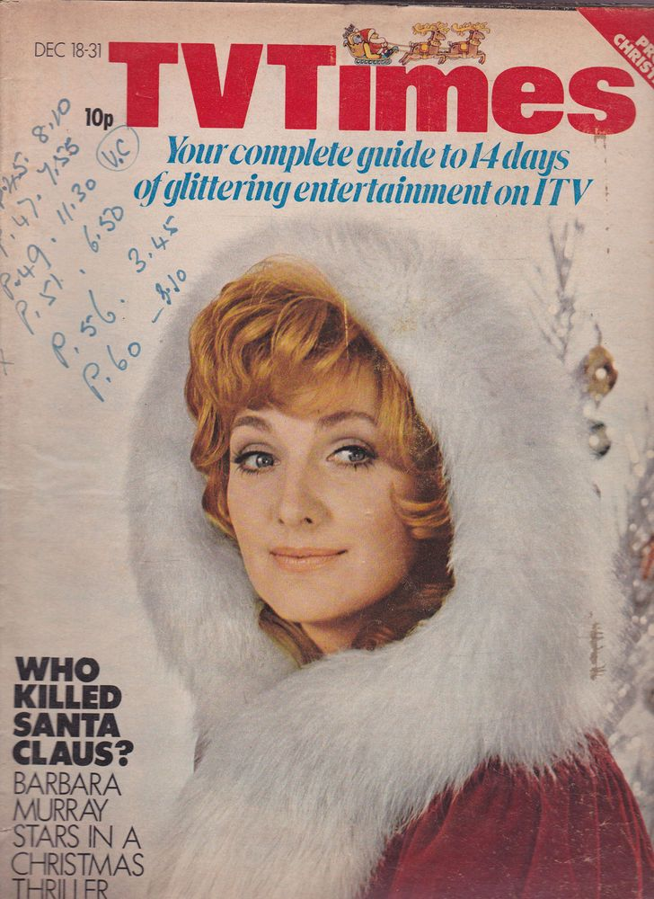 christmas 1970 new year 1971 edward woodward callan barbara murray tv times