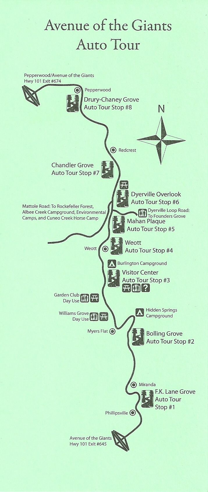 Ave of Giants MAP TUES 9 29 Travel